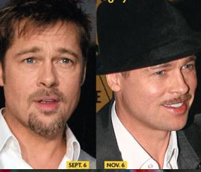 Brad Pitt before and after my selection